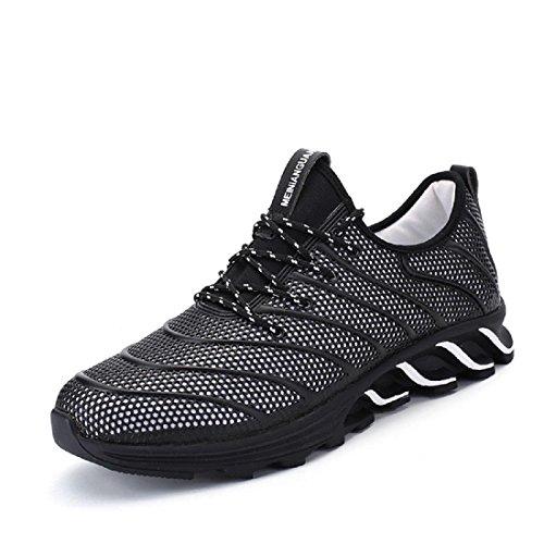 Uomo traspirante Scarpe sportive Scarpe casual formatori Scarpe da ginnastica Antiscivolo Scarpe da corsa euro DIMENSIONE 39-44 Black