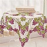 JITIAN 85 * 85 cm Platz Tischdecke Floral Bestickte Tischabdeckung Spitze Stoff Tee Tischdecken Für Hochzeit Dekoration Weihnachten