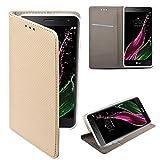LG Zero Flip case Gold - Moozy® Dünne magnetische