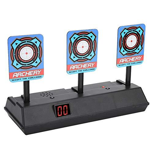 Asixx Target Gun Gun, Target per Nerf Gun o Target Score Elettrico, Tabellone segnapunti elettronico Punteggio Alimentato da 3 batterie AA, per Soft Bullet Toy Gun<br/>