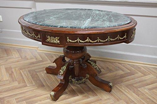 Table Baroque Rococo Louis MkTa0123Gn de marbre XV