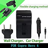 Torque Traders Battery Charger Car Battery Charger For Gopro Hero 4 Hd Camera Ba