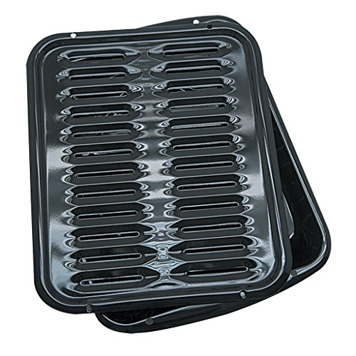 2 Piece Porcelain Broiler Pan with Grill (Pan Broiler)
