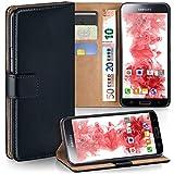 OneFlow PREMIUM - Book-Style Case im Portemonnaie Design mit Stand-Funktion - für Samsung Galaxy S5 (SM-G900F) - SCHWARZ