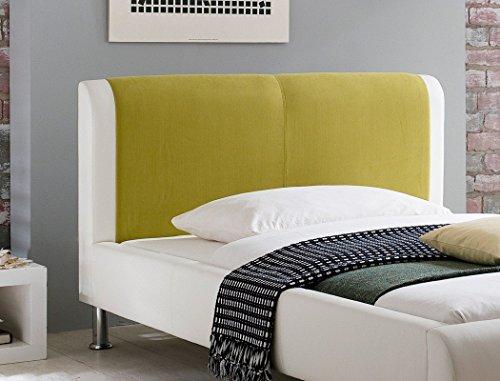 Expendio 44850150 Polsterbett, Lederimitat, grün, 120×200 cm