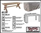 Raffles Covers RT270 Abdeckung für rechteckige Gartentisch 270 x 100 cm Schutzhülle für rechteckigen Gartentisch, Abdeckhaube für Gartentisch, Gartenmöbel Abdeckung
