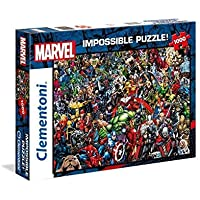 Clementoni 39411 Clementoni-39411-Impossible Puzzle-Marvel-1000 Pieces, Multi-Colour