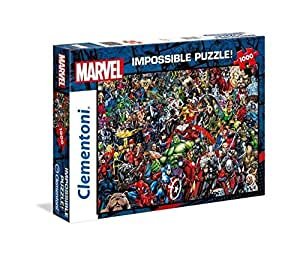 """Clementoni 39411"""" Marvel Universe-Impossible Puzzle, 1000 Teile"""