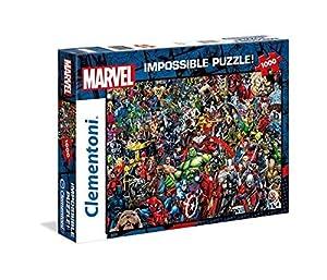 Clementoni Puzzle Impossible Marvel 1000 pzas, (39411)