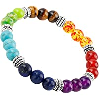 sunyik Semi Precious Stein Armband, Chakra ctystal Heilung, Balancing Reiki, Yoga Jewelry preisvergleich bei billige-tabletten.eu