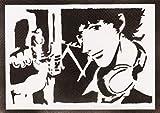 Poster Spike Spiegel Cowboy Bebop Handmade Graffiti Street Art - Artwork