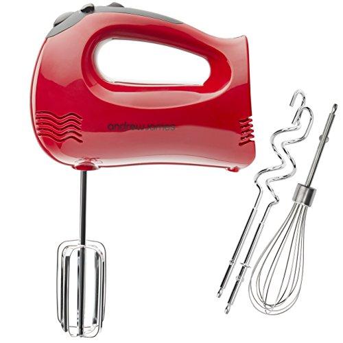 Andrew-James-Professional-Red-Hand-Mixer-Bonus-Balloon-Whisk-300-Watt