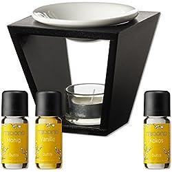 Duftöl Set mit Duftlampe - So Sweet- feiner Raumduft - Kokosnuss, Vanille, Honig - Aromaöl für Duftlampe und Diffuser von miaono