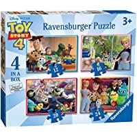 Ravensburger UK 6833 Ravensburger Disney Pixar Toy Story 4, 4 in a Box (12, 16, 20, 24pc) Jigsaw Puzzles, Multicoloured
