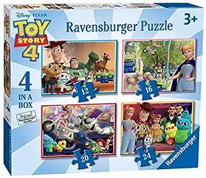 Ravensburger 6833 Disney Pixar Toy Story 4, 4 en una Caja (12, 16, 20, 24 Piezas) Rompecabezas, Multicolor