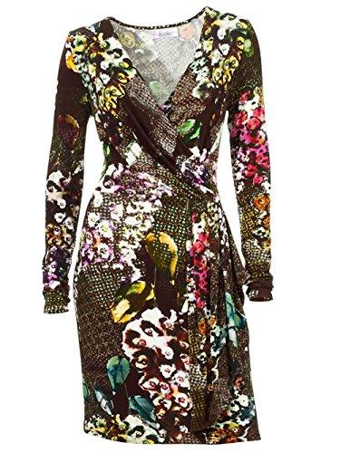 Linea Tesini Damen-Kleid Druckkleid Mehrfarbig Bunt