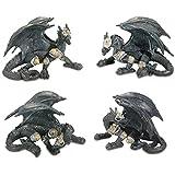 Conjunto de figuras Dragon Guerrero 12cm