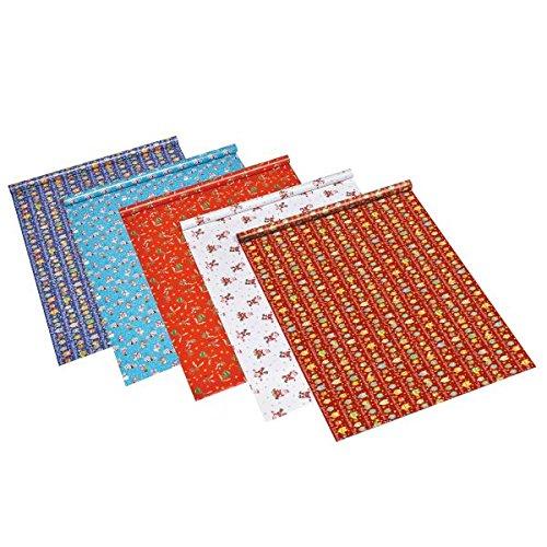 Susy Card 11103728 Weihnachts-Geschenkpapier, Sortiment mit 60 Rollen, 10 Motive sortiert, 2 m