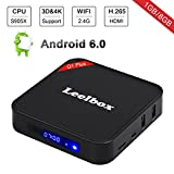 Leelbox Q1 Plus Android 6.0 TV Box Smart TV Box de 1GB RAM+8GB ROM, S905X , Soporta 4K (60HZ)/WIFI/3D/4K/HD/H.265