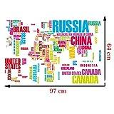 Englisch Farbe Wandaufkleber Selbstklebende Pvc Schlafzimmer Renovierung Kinderzimmer Wasserdicht Abnehmbar -97Cm_X_64Cm_A