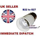 BC Bayonet cap B22 To E27 ES Edison Eddison Screw Bulb Base Lamp Socket Fitting Extender Converter Adaptor Holder