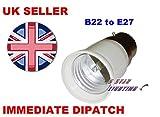 BC à baïonnette B22 vers E27 Ampoule culot à vis Eddison Base de douille de lampe de support de Raccord Adaptateur Convertisseur