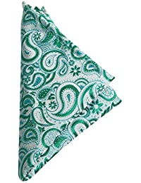 Vibhavari Men's Green Pocket Square - Paisley