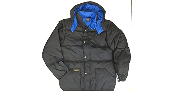 405cb3fd5 Ralph Lauren Polo Boys Youth Puffer Down Jacket with Detachable Hood ...