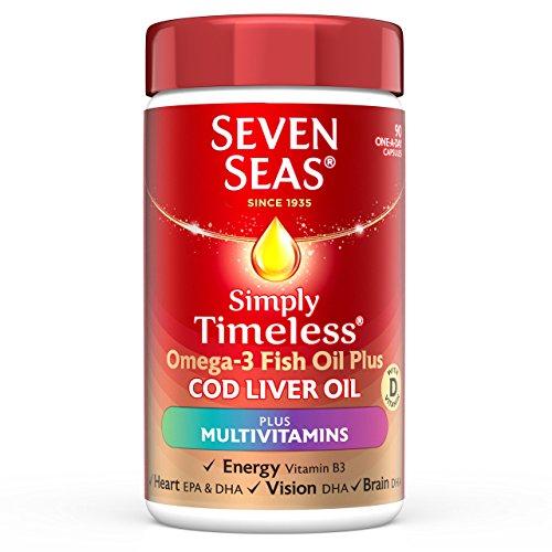 SEVEN SEAS Omega-3 Fish Cod Liver Oil Plus Multivitamin Pack Of 90, 118 g (Omega-3-plus)