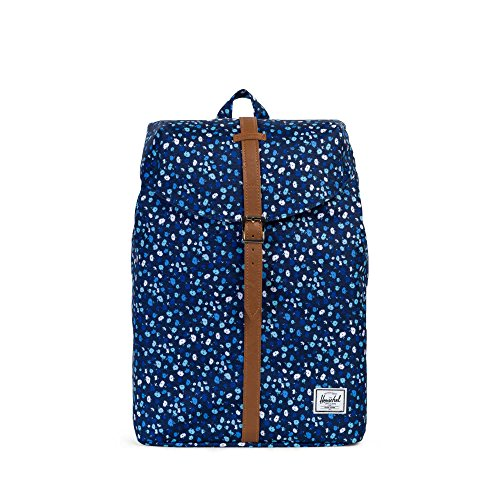 Herschel Supply Company Post mid-volume Casual Tagesrucksack Peacoat Mini Floral/Tan Synthetic Leather
