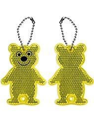 Lantra Besa (enfants Enfants réfléchissant Porte-clés 2pcs Bears pour sac à dos Sacs d'école cyclistes Course Marche Sport et de sécurité extérieur Accessoires haute visibilité