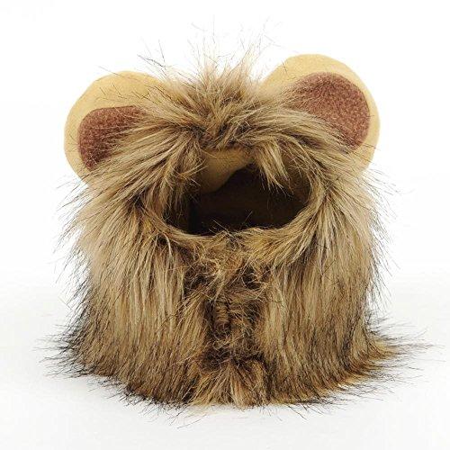 Katzen Spielzeug Kleidung Kostüm Löwenmähne Hut, Groß Pet Hund Katze Löwe Perücken Mähne Haar mit Ohren für Festival Party Kleidung Schals Kostüm Hund
