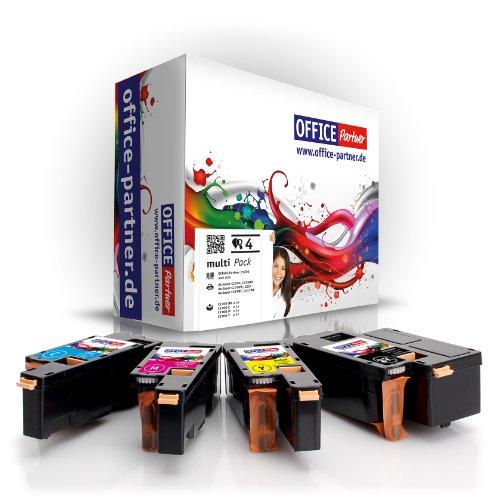 Preisvergleich Produktbild 4er multiPack kompatible Toner zu Epson C1700 (BK/C/M/Y) für Epson Aculaser C1700 / C1700DN / C1700N / C1750 / C1750N / C1750W / CX17 / CX17NF / CX17WF