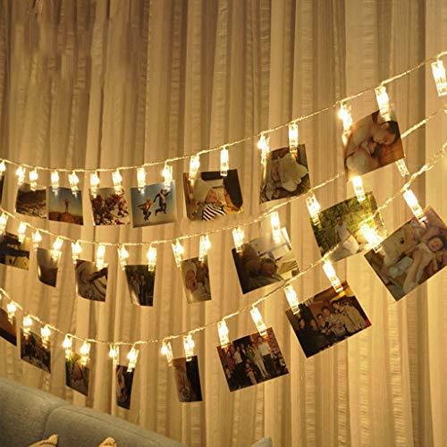 W&z clip luce stringa interni led stringa luci decorazione lampada illuminazioni per natale camera compleanno parti di nozze usb powered,2.2m7.2ft