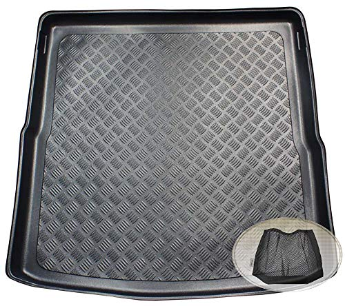 ZentimeX Z3348512 Geriffelte Kofferraumwanne fahrzeugspezifisch + Klett-Organizer (Laderaumwanne, Kofferraummatte)
