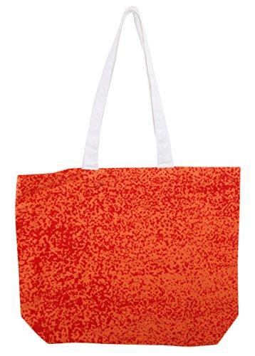 Brizan Frauen-und Mädchen-doppelte Handgriff-Handtaschen-Baumwollgeldbeutel-Schulter-Einkaufstasche Rot