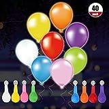 40 LED 8 Farben Blinkende Bunte Luftballons mit wei? Band, ARTISTORE 24 Stunden Leuchtdauer, f¨¹r Party, Geburtstag, Hochzeit, Festival, Weihnachten