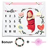 CAVN Monatliche Baby Meilenstein Decke Foto Requisiten Shoots Kulisse, Wieder Verwendbare Baby Windel Wickeldecke für Fotografie