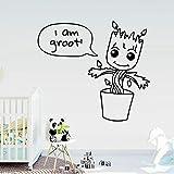 Diy Groot Plante Papier Peint En Vinyle Pour Les Chambres D'enfants Stickers Muraux Diy Décoration de La Maison Décoration Accessoires naklejki na sciane 43x48 cm