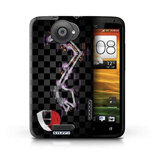Kobalt® Imprimé Etui / Coque pour HTC One X / Singapour conception / Série 2014 F1 Piste Monaco/Monte Carlo