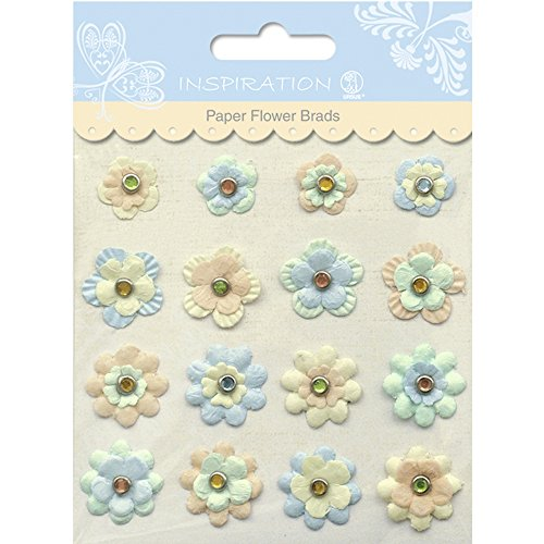Paper Flower Brads (PAPER FLOWERS BRADS MOTIV 06)
