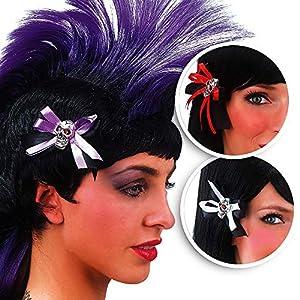 Carnaval Juguetes 08332-2 de Halloween cráneo pinzas para el cabello, de metal