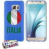 Originale Schutzschale von MUZZANO : Blau, ultradünn und flexibel, mit Fußball Italia-Muster für SAMSUNG GALAXY S6 EDGE PLUS / SM-G928T / SM-G928A