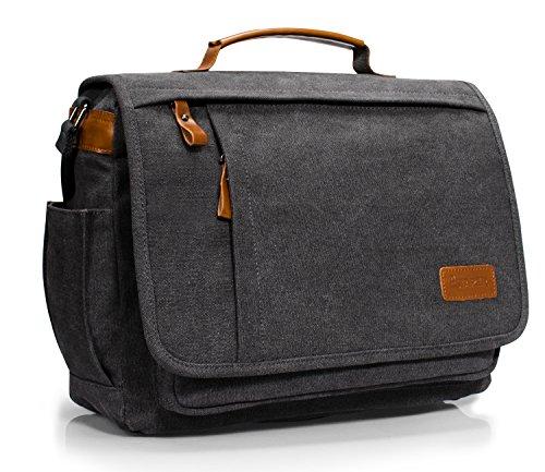 Estarer Umhängetasche 14 Zoll Laptoptasche Messenger Bag für Alltag Sport Reise (Messenger-tasche)