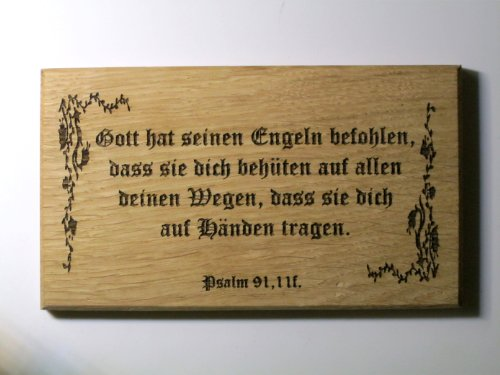 Geschenk Sprüche Kommunion Konfirmation -Gott hat seinen Engeln befohlen- Altdeutsch