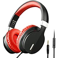 OneAudio On Ear Kopfhörer Tragbarer und Verstellbarer Headset mit Mirkrofon Lautstärkeregelung durch integrierte Fernbedienung bequem komfortbale Ohrmuscheln geeignet für Smartphones, Laptops, PC, CD Spieler, Tablets