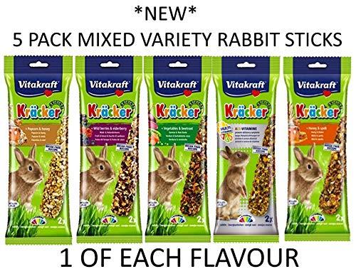 * NEU * 5Stück gemischt Vitakraft Kracker Kleine Tier Aufhängen behandeln Samen Sticks -