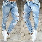 Rasgada destruido novio manera de la venta caliente mujeres Jeans de mujer Loose agujero Vaqueros Pantalones Harem Mujer de la manera larga Pantalones Pantalones
