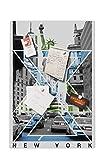 Pizarra magnética (40 x 60 cm), diseño de Nueva York PH486