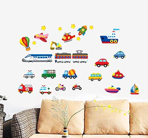 3D Cartoon Flugzeug Auto Styling Wandaufkleber Für Kinderzimmer Wanddekor Kunst Poster Badezimmer Aufkleber Baby Room Decor Wandbild -